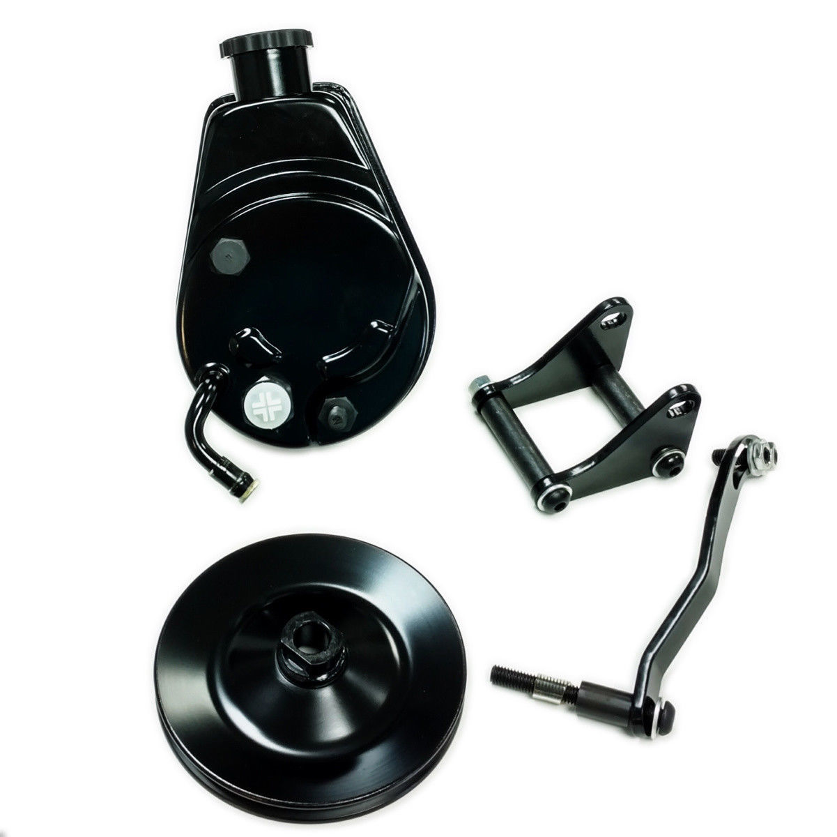 Saginaw Power Steering Pump >> Sbc Chevy Sb Black Saginaw Power Steering Pump W Bracket Single