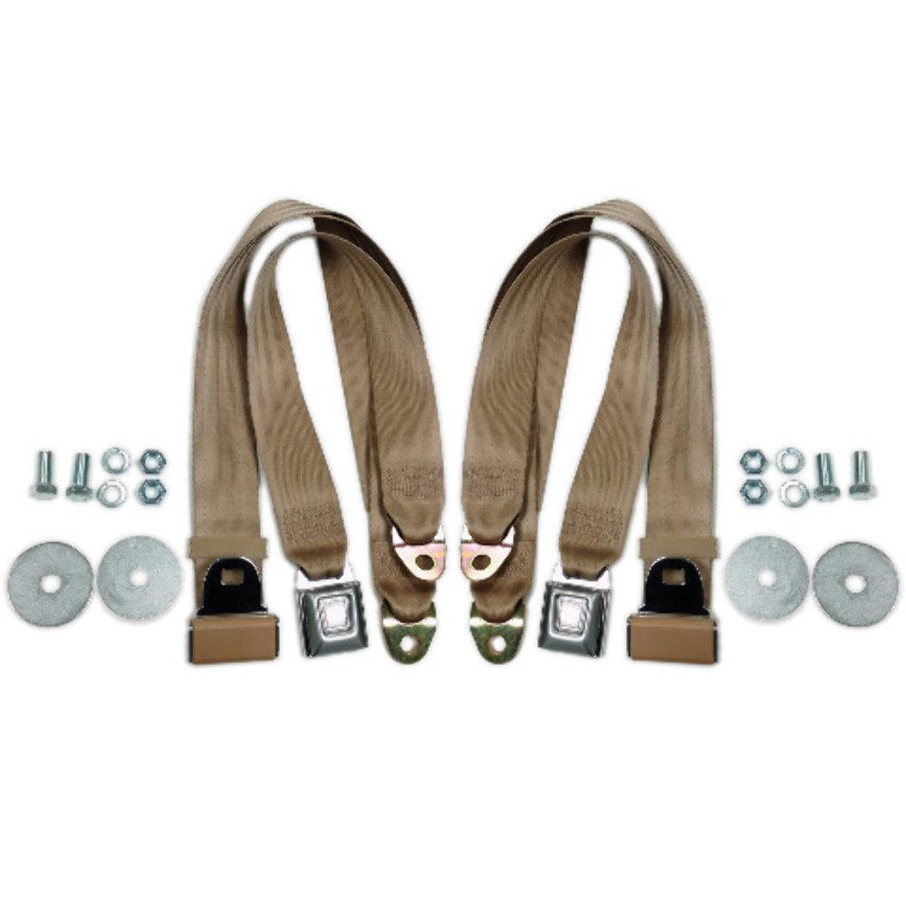 "Grey Universal 72/"" Lap Seat Belt w// Hardware Hot Rat Street Rod Muscle Classic"