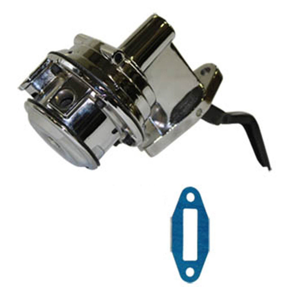 "Chrome Mechanical Fuel Pump Small Block Ford V8 289 302 351W 1//4/"" NPT"
