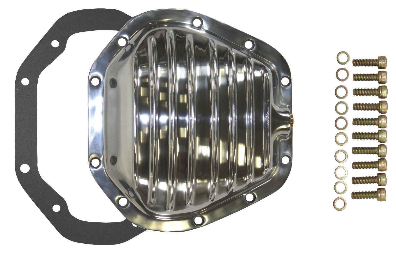 10 BOLT POLISHED ALUMINUM FRONT REAR DIFFERENTIAL COVER FOR DANA 60 DODGE FORD