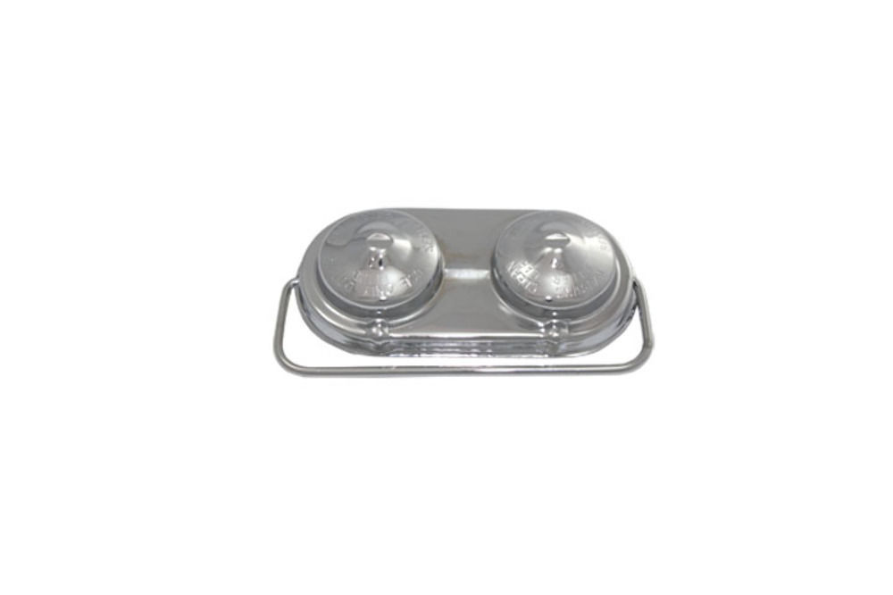 Chrome Steel Brake Master Cylinder Cover GM Chevy 67-80 Single Bail Cap Hot Rod
