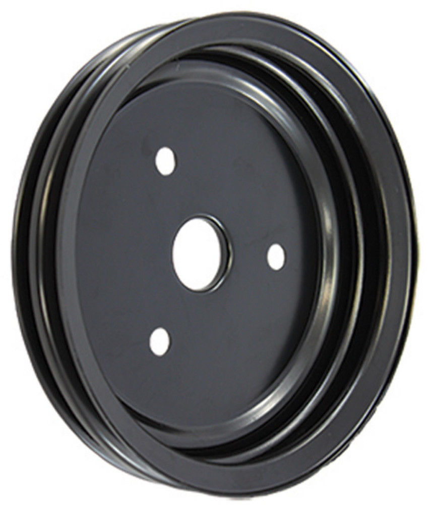Pirate Mfg SBC Chevy 283-350 Polished Aluminum SWP Double Groove Crankshaft Pulley