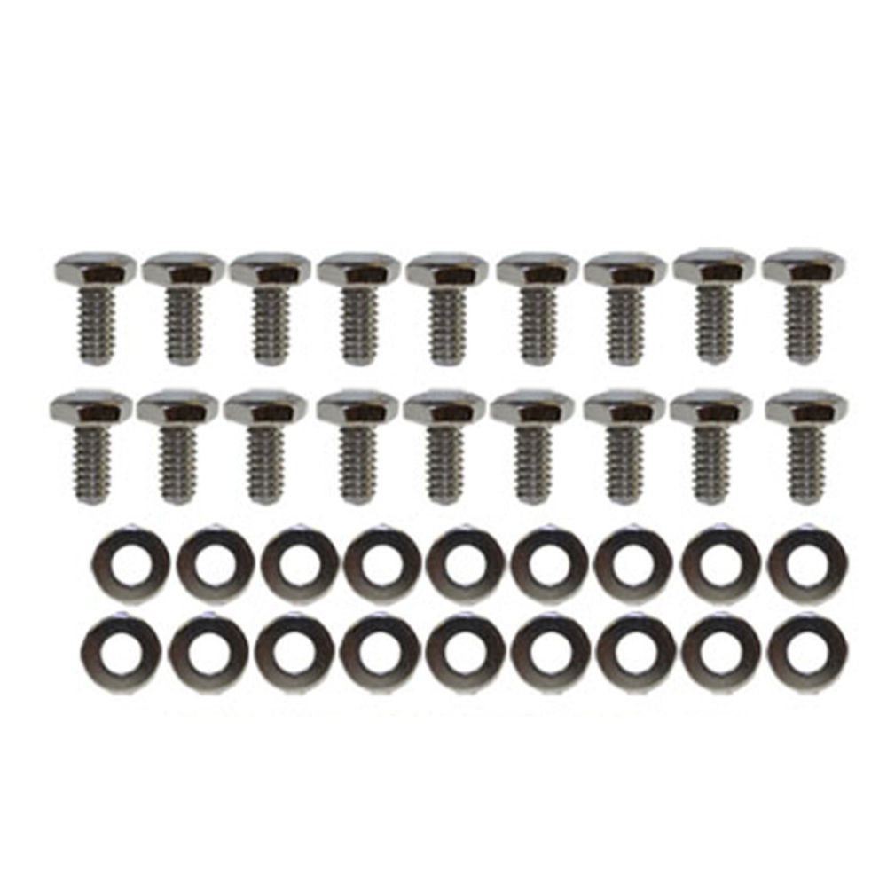 Details about Chrome Transmission Pan Bolts & Washers Kit GM Ford Dodge  Chrysler Mopar Hot Rod