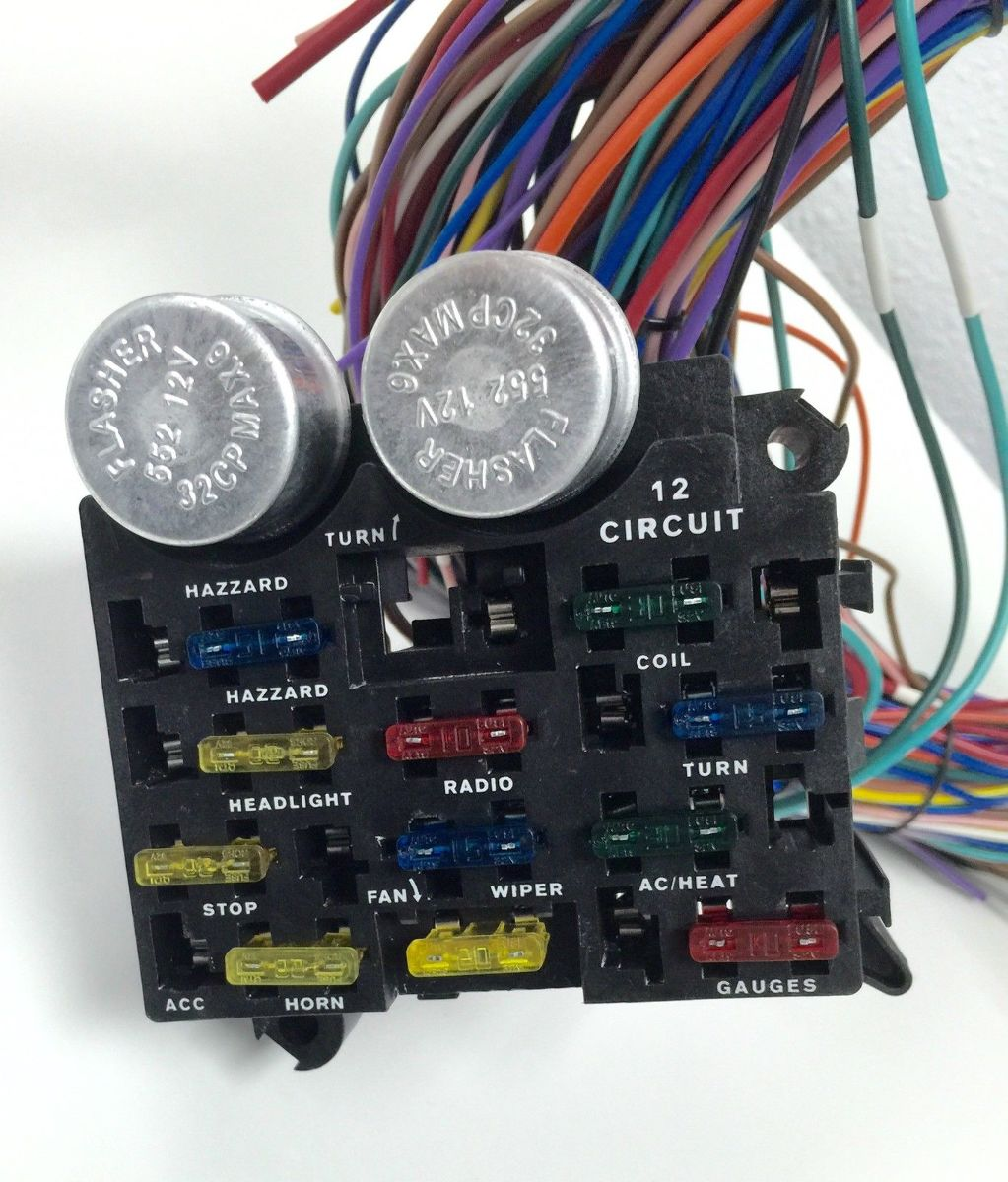 Hot Rod Circuit Universal Wiring Harness 8 Diagram Will Be Painless Car 12v 24 12 Fuse Wire Kit Street Tips