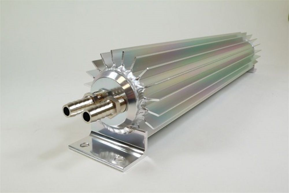 """20/"""" Finned Anodized Aluminum Single Pass Transmission Trans Cooler"""
