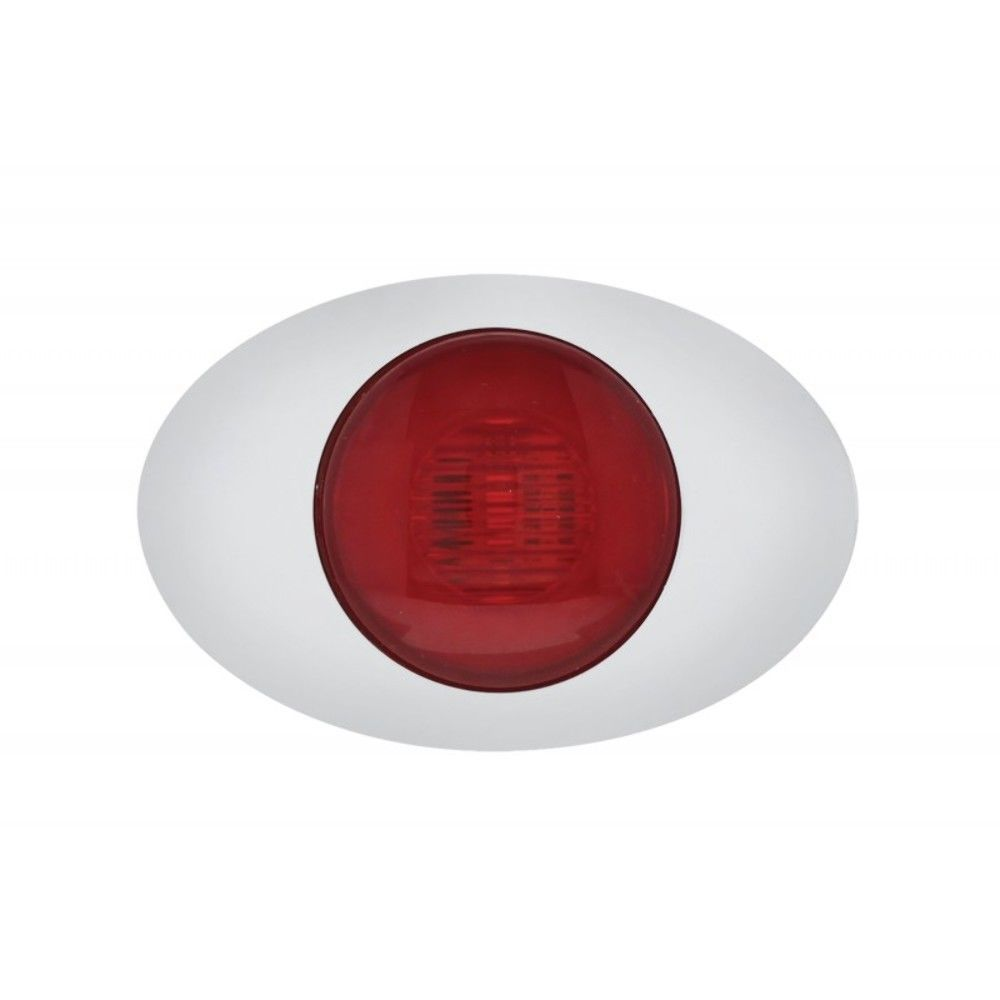 """Red LED w// Clear Lens GLO Light 5 LED /""""M3 Millennium/"""" Clearance//Marker Light"""