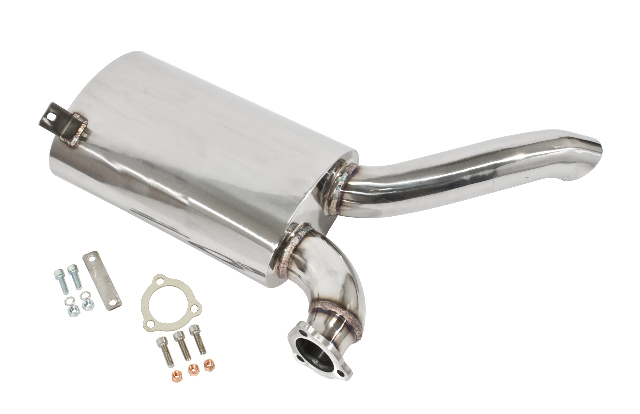 EMPI 3481 Stainless Steel Side?ow Muf?er Only, Fits EMPI P/N 3448 Exhaust System