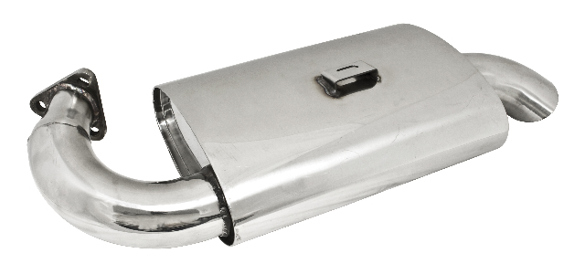 S/S Phat Boy Muffler for P/N 3767 Extractor, Fits Type 1 66-73, 1300-1600cc Upright Engines