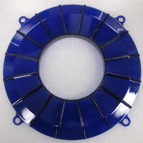 New EMPI VW Blue Finned Backing Plate Cover - 8849