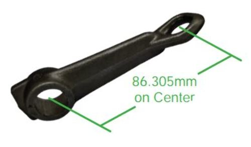 Clutch Cable Arm, Long Version, Fits Beetle 61-71 & 002 Bus, Compatible with VW