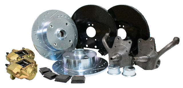 Front Disc Brake Kit w/ Stock-Style Spindles, Ball Joint, 4x130 with 14x1.5mm threads