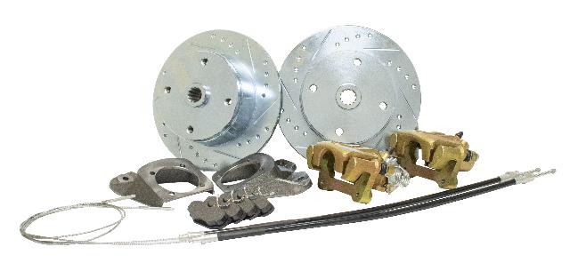 Rear Disc Brake Kit w/ Emergency Brake, 1968-1972 Type 1 I.R.S Swing Axle 1968 , 4x130 with 14x1.5mm threads