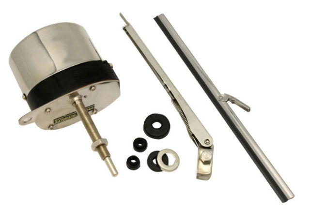 Universal 12V Stainless Steel Windshield Wiper Motor Kit, For Hot Rod, Off-Road