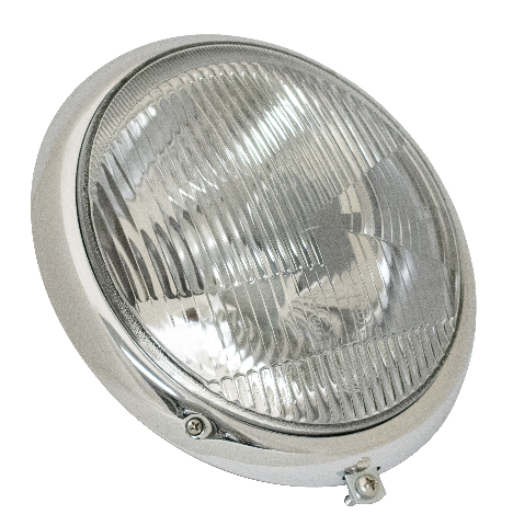 Headlight Assembly, Hella, Compatible with VW Early Bug Thru 66,  50-55 356, All 356 A/B/C