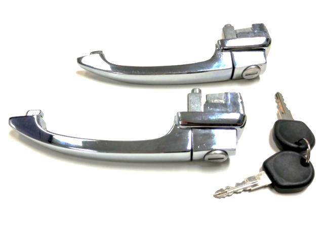 VW Volkswagen Beetle Locking  Door Handles, Keyed Alike Pair, 64-66 113898205D