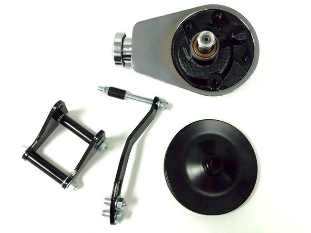 Saginaw Power Steering Pump >> Sbc Chevy Sb Chrome Saginaw Power Steering Pump W Black Bracket Pulley Kit