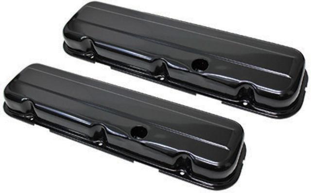 Chevy Big Block BBC V8 Short Black Valve Covers 396 427 454 502 1965-2000