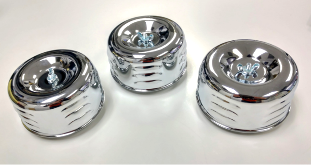 Hot Rod 4-5/8 Chrome Louvered Air Cleaners Tri-Power Intake 1BBL 2BBL Ford Chevy