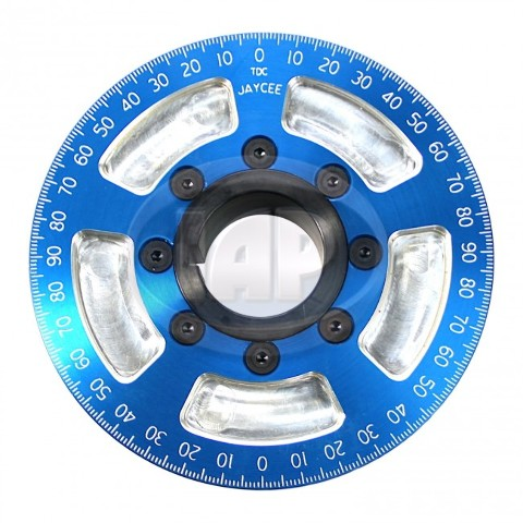 "5-1/4"" Street Power Crankshaft Power Pulley, Blue For Air-Cooled VW"