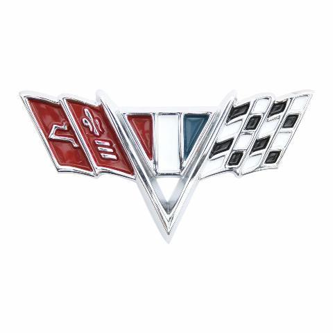 "KNS Accessories KC4526 ""V Flag"" Front Fender Emblem (1964-1967 Impala)"