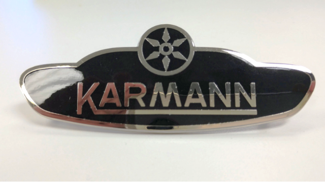 Side Body Badge Emblem Logo, VW Volkswagen Karmann Ghia 1961-1979 Convertible