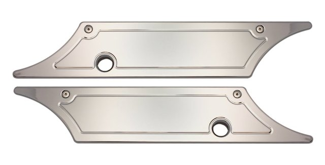 Smooth Chrome Saddle Bag Latch Covers Fits 93-13 FLT/FLHT/FLHR/FLTR/FLHX