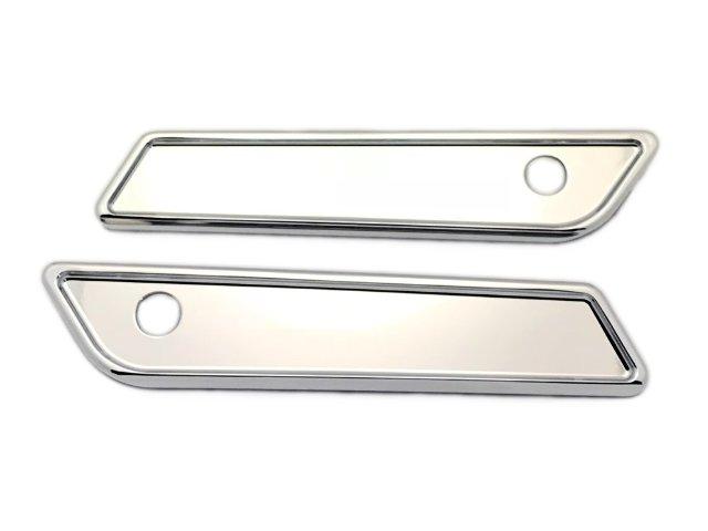 Smooth Chrome Saddle Bag Latch Covers Fits 14-19 FLHT / FLHR / FLTRX / FLHX
