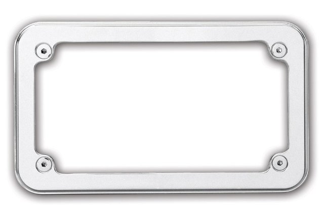"Custom License Frame, Smooth, Chrome, 7-1/4"" x 4-1/4"""