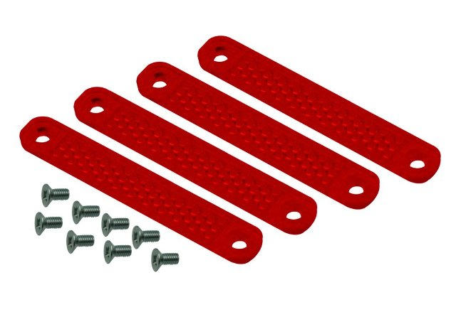 Replacement Red Lens Kit For Viper Turn Signals, Set 4pc with 8 Screws