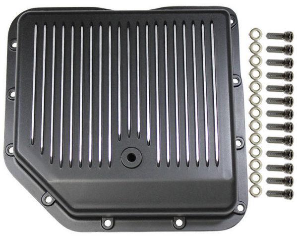 Chevy Black Finned Aluminum Turbo 350 Transmission Pan CBC TH-350 TH350 Trans