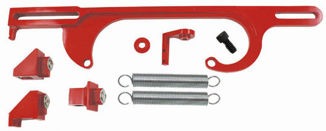 Red Billet Aluminum Throttle Cable Bracket SBC BBC V8 Holley 4150 4160 Series
