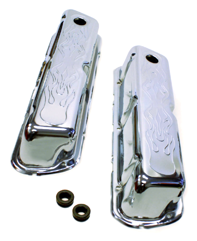 SMALL BLOCK FORD FLAME VALVE COVERS 289 302 351W