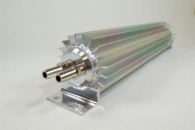 "Satin Aluminum Finned ""Dual Pass"" Transmission Cooler - 30"""