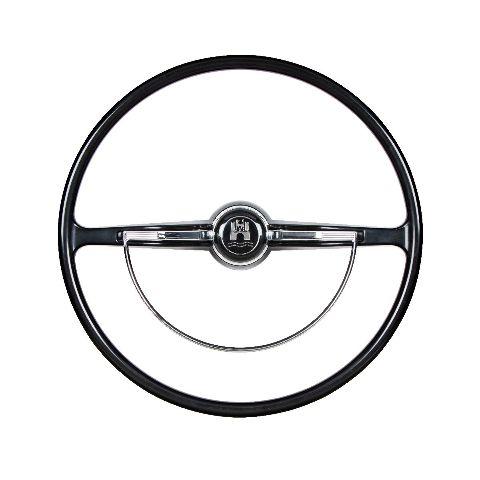 Stock VW Design Replacement BLACK Steering Wheel Kit T-1, Ghia, Type-3 1962-1971