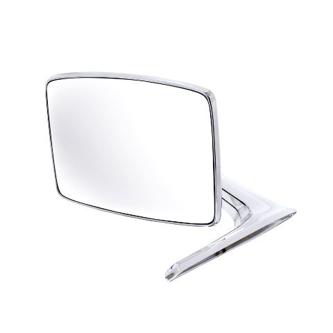Chrome Exterior Mirror, Left or Right Side, Fits Ford 1966-1977 Bronco and Truck