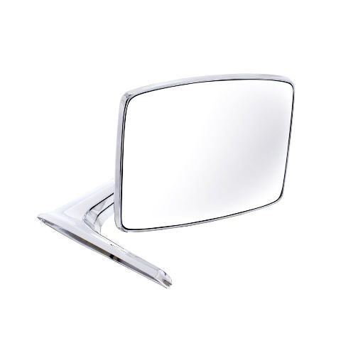 Chrome Mirror w/ Convex Glass, Right/Passenger Side, Fits 1966-77 Bronco, Truck