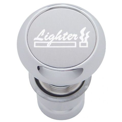 "DISCONTINUED - Chrome Aluminum Cigarette Lighter with Silver Aluminum ""Lighter"" Sticker"