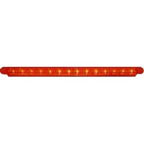 """14 LED 12"""" Sequential Auxiliary/Utility Light Bar Red LED w/ Red Lens"""