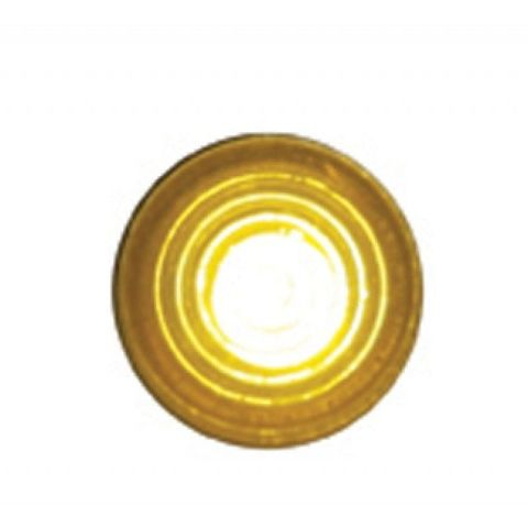 "Super Bright LED Indicator Light w/ Amber Lens Fit 1/4"" - Hot Rod Rat Rod Custom"