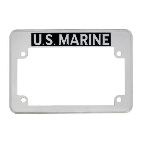 U.S. Marine Motorcycle License Plate Frame FITS HARLEY CHOPPER TRIUMPH MORE