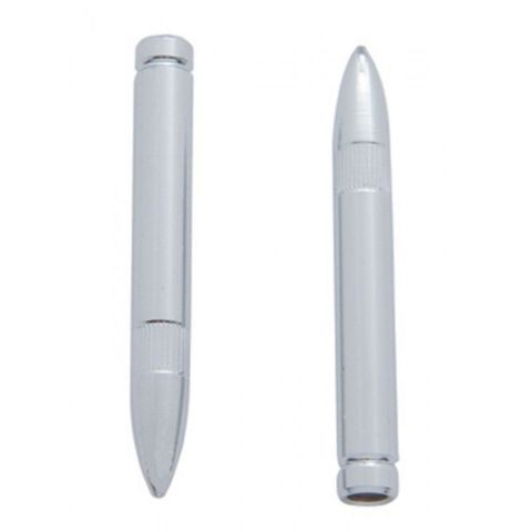 Hot Rod Chrome Bullet Shape Door Lock Pulls 2 Piece Set