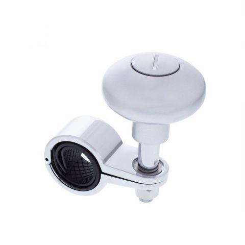 Heavy Duty Steering Wheel Spinner - Liquid Silver