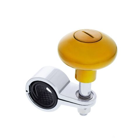 """Heavy Duty Steering Wheel Spinner, Fits 1-1/8"""" to 1-5/16"""" Dia - Electric Yellow"""
