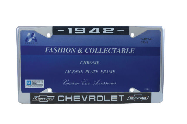 """1978 Chevy /""""Camaro/"""" Chrome License Plate Frame with Year and Chevrolet Bowtie"""