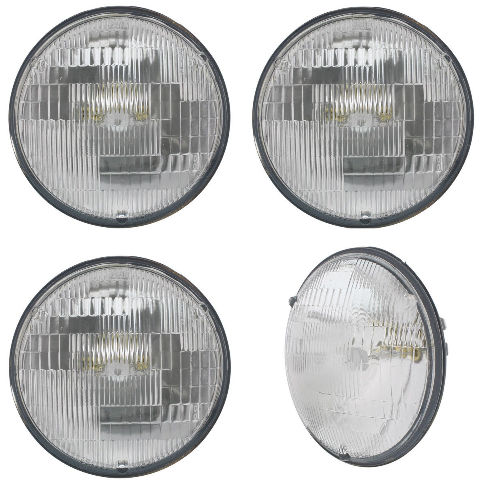 "5-3//4/"" Sealed Beam Incandescent Glass High Hi Beam Headlight Headlamp Bulbs Pair"