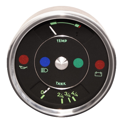 """VDO """"356"""" Combination Oil Temperature and Fuel Level Gauge For VW Dune Buggy Baja Bug Sand Rail"""