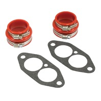 VW Beetle Bug Baja Sand Rail Car Red Urethane Dual Port Intake Boot kit 3229