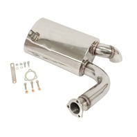 EMPI 3258 Stainless Steel Sideflow Muffler Only, For EMPI 3255 Exhaust System