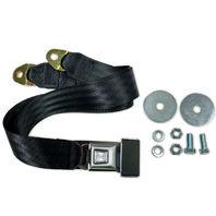 "72"" Universal 2-Point Lap Belt BLACK Seat Belt, Each  - Hot Rat Street Rod V8"