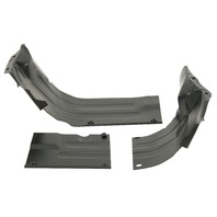 VW BUG AIR COOLED 1300-1600 HEATER BOX CHANNEL KIT,BLACK  8948